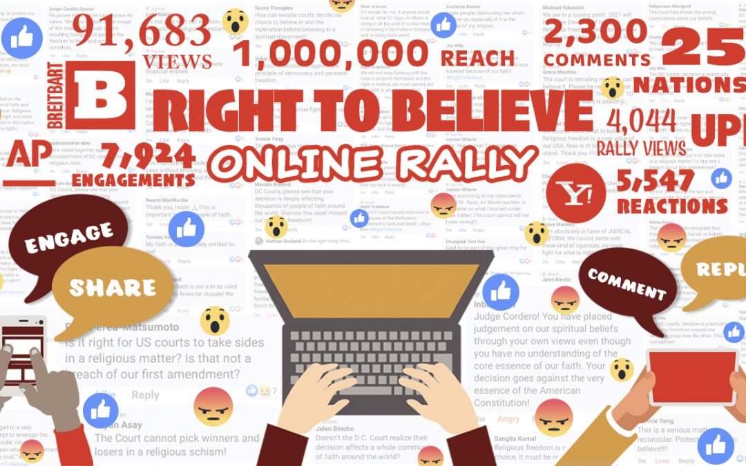 Right to Believe Online Rally A Great Success
